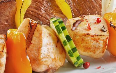 Pinchitos de pollo tikka